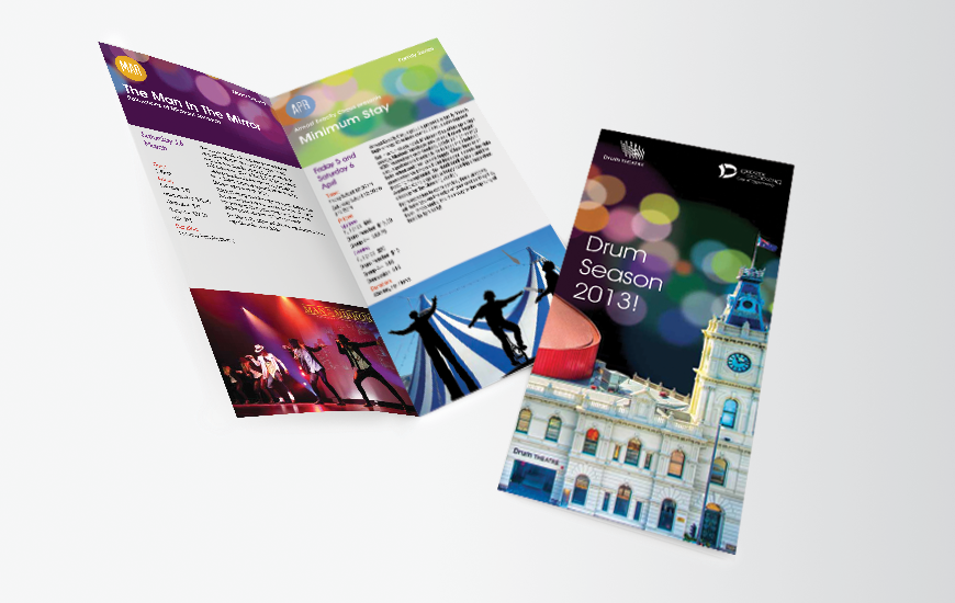 City of Greater Dandenong DL brochure design. 2013 Season's brochure