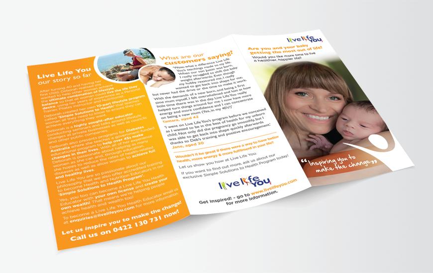 DL print brochure design outside
