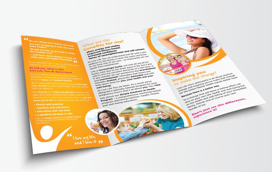 DL print brochure design inside