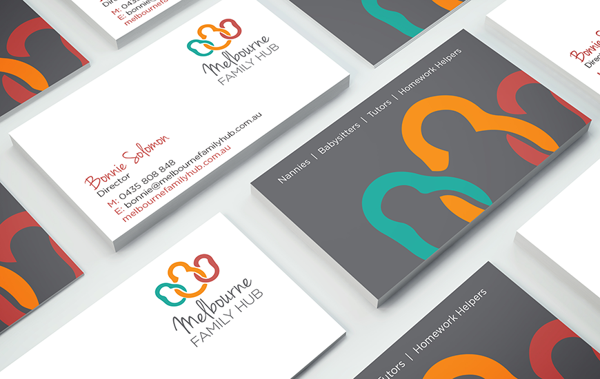 Synkd Melbourne Family Hub business cards