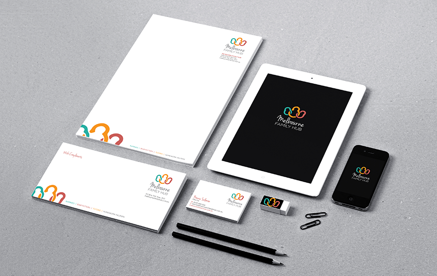 Synkd Melbourne Family Hub stationery