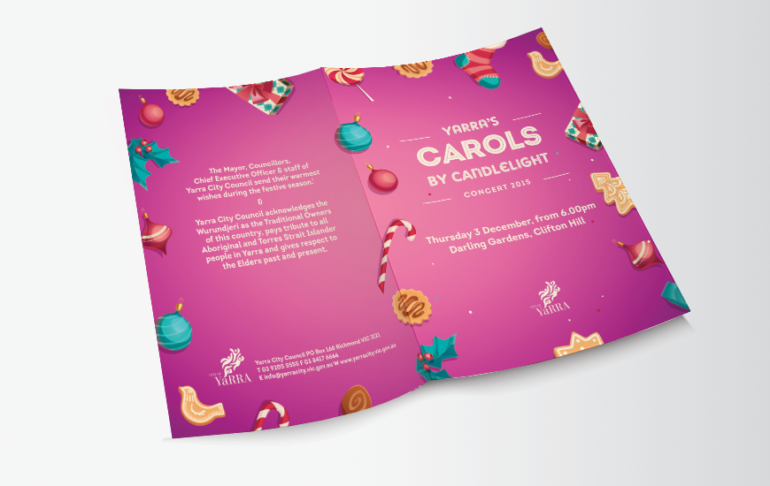 City of Yarra 2015 Carols by Candlelight Song book